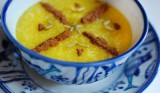 Sholeh zard | Dolce di riso all'acqua di rose, zafferano e pistacchi | Iran