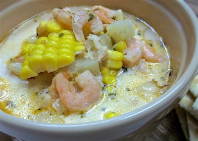 Cajun shrimp & corn soup   Zuppa cajun di gamberi e mais   Stati Uniti