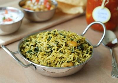 Sabzi polo   Riso saltato con spinaci, porri e coriandolo   Afghanistan