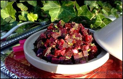Salade de betterave à l'andalous   Insalata di barbabietola all'andalusa   Marocco