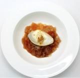 Modern Tavuk gögsü | Crémeux di petto di pollo con granita di cannella